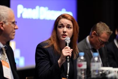 Dr. Richardson-Barlow speaking in Seoul, Republic of Korea